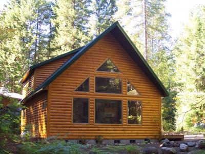 VacationsFRBO Mount Hood Vacation Rentals Property ID 15491 Mt Hood Log Chalet with Hot Tub and Fireplace