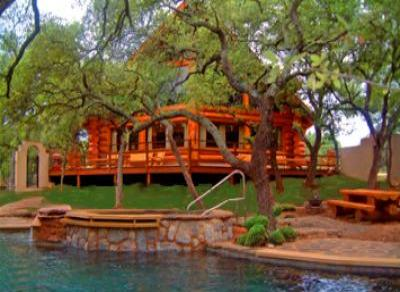 VacationsFRBO Lake LBJ Vacation Rentals Property ID 26618 The Avonne Log Cabin